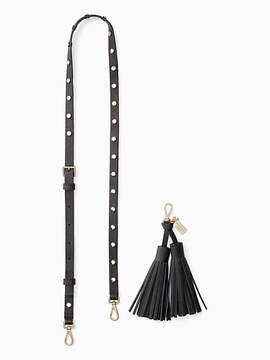 Kate Spade Make it mine crystal overlay strap/tassel pack - BLACK - STYLE