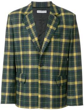 Gosha Rubchinskiy checked long sleeve blazer