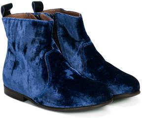 Pépé velvet look boots