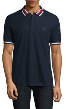 Lacoste Short-Sleeve Striped Cotton Polo