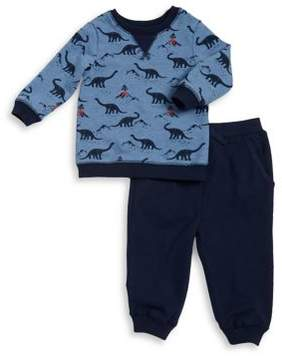 Little Me Boy Boy's Two-Piece Dino Cotton Sweatshirt and Jogger Pants Set