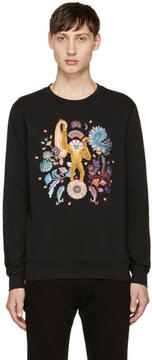 Paul Smith Black Embroidered Monkey Sweatshirt