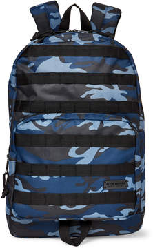 Steve Madden Blue Camo Print Troop Backpack