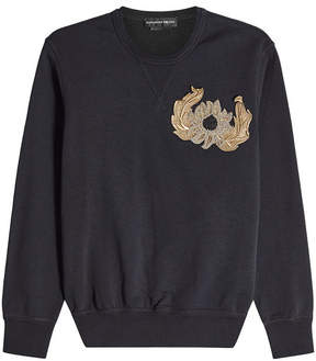 Alexander McQueen Cotton Sweatshirt with Embellishment