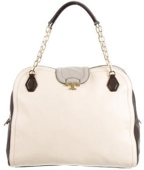 Tory Burch Colorblock Tote Bag - BROWN - STYLE