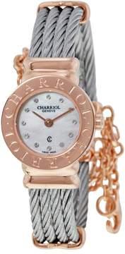 Charriol St Tropez Mother of Pearl Diamond Ladies Watch