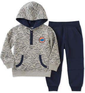Kids Headquarters 2-Pc. Dino-Print Hoodie & Jogger Pants Set, Baby Boys (0-24 months)