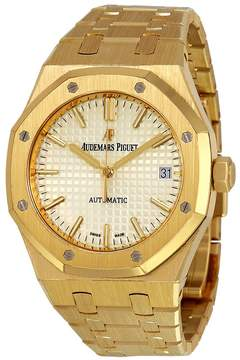 Audemars Piguet Royal Oak Silver Dial Automatic 18 Carat Yellow Gold Ladies Watch
