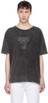 Saint Laurent Grey Y T-Shirt