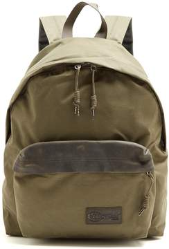 Eastpak Padded Pak'r® Axer leather and canvas backpack