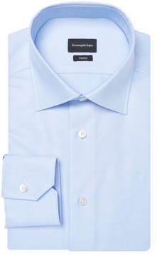 Ermenegildo Zegna Men's Plain Cotton Dress Shirt