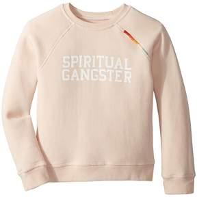 Spiritual Gangster Kids SG Varsity Crew Neck Fleece Girl's Clothing