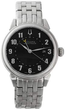 Bulova Accutron Black Dial GMT Stainless Steel Mens Watch 63B154