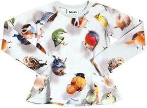Molo Bird Printed Cotton Jersey T-Shirt