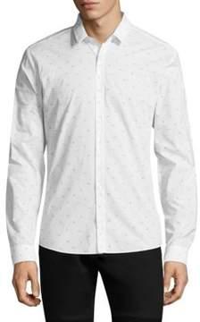 HUGO Cotton Slim-Fit Button-Down Shirt