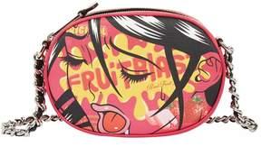 Moschino Leather Fantasy Print Clutch Bag