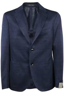 Cantarelli Men's 1112532711727 Blue Linen Blazer.