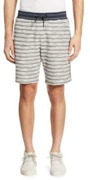 Madison Supply Striped Knit Cotton Shorts