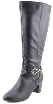 Karen Scott Gaffa Wide Calf Women Round Toe Synthetic Black Knee High Boot.