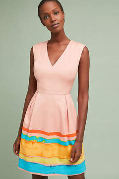 Anthropologie Tracy Reese x Painterly Pleated Dress
