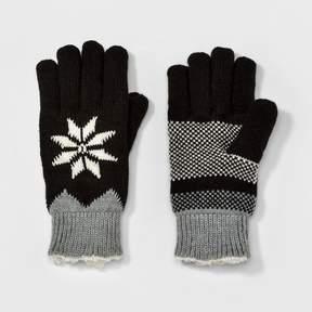 Isotoner Women's smartDRI Snowflake Knit Gloves - Black