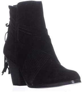 Yellow Box Exceed Zip-up Tassel Pull Booties, Black.