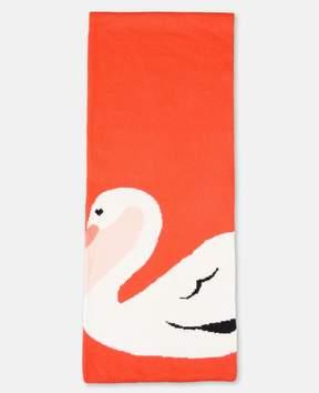 Stella McCartney robbie red knit swan scarf