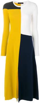 Cédric Charlier asymmetric colour block dress