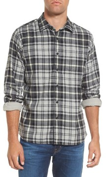 Grayers Men's Heath Modern Fit Plaid Double Cloth Sport Shirt
