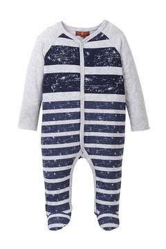 7 For All Mankind Colorblocked Footie (Baby Boys)