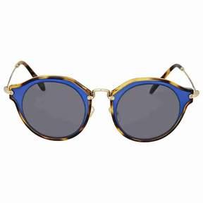 Miu Miu Matte Azure Metal Sunglasses