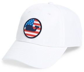 Vineyard Vines Men's Perf Patriot Ball Cap - White