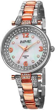 August Steiner Womens Two Tone Strap Watch-As-8137ttr