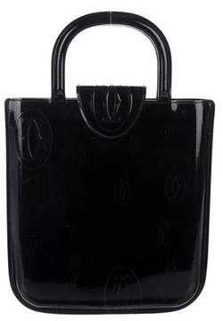 Cartier Patent Leather Logo Handle Bag