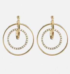 Avenue Stone Hoop Earrings
