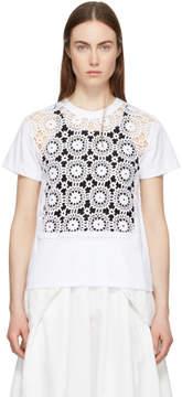 Comme des Garcons White Crochet T-Shirt