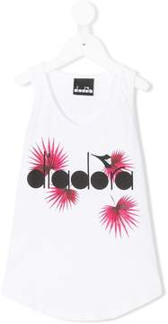 Diadora Junior leaf logo printed tank top