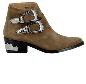 Toga Pulla Women's Brown Suede Ankle Boots.