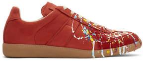Maison Margiela Red Paint Splatter Replica Sneakers