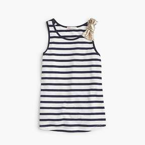J.Crew Girls' striped tank top with bow