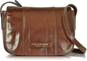 The Bridge Passpartout Donna Marrone Leather Crossbody Bag