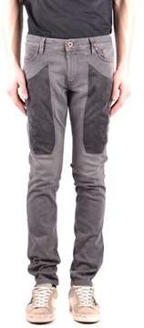 Jeckerson Men's Grey Cotton Jeans.