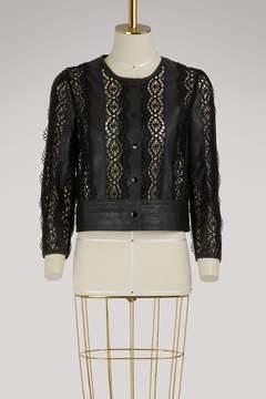 Vanessa Bruno Iveo leather short jacket