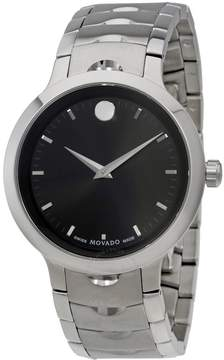 Movado Luno Black Dial Stainless Steel Men's Watch 607041