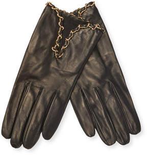 Portolano Women's Leather Chain Gloves