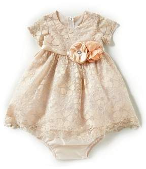 Rare Editions Baby Girls 12-24 Months Lace Floral-Applique Dress