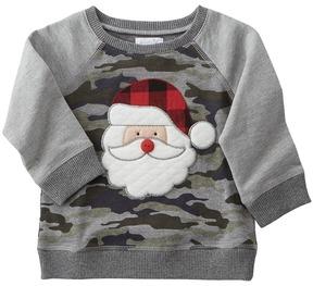 Mud Pie Camo Santa Sweatshirt Boy's Sweatshirt