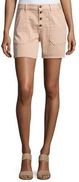 BA&SH Cmira High-Rise Slim-Fit Shorts, Makeup