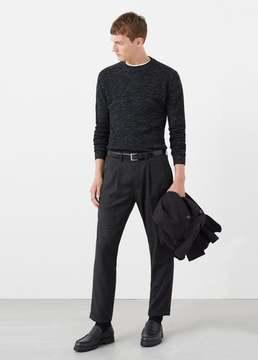 Mango Outlet Flecked linen wool-blend sweater