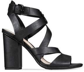 Bar III Womens Mae Peep Toe Casual Strappy Sandals.